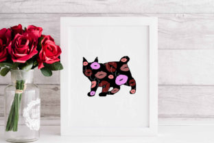 Manx Cat Kisses Graphic Crafts By Designs of Whimsy
