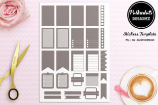 PLANNER STICKERS TEMPLATE - FLAGS Graphic Print Templates By Polkadots Designz