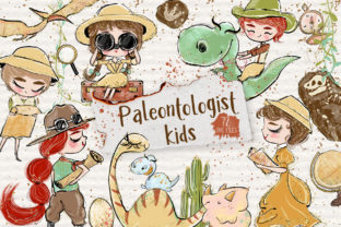 Paleontologist Clipart, Safari Clipart, Graphic Illustrations By Hippogifts