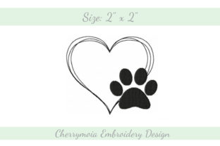 Paw Love Dogs Embroidery Design By CherrymoiaEmbroidery