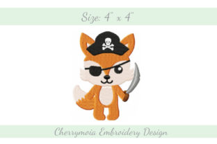 Pirate Fox Pirates Embroidery Design By CherrymoiaEmbroidery