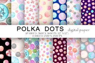 Print on Demand: Polka Dots Digital Paper Seamless Patter Graphic Illustrations By TanyaPrintDesign