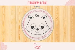Raccoon Baby Animals Embroidery Design By carasembor