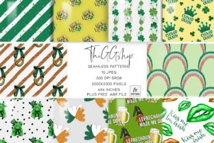 Print on Demand: Saint Patrick's Day Seamless Patterns Graphic Patterns By TheGGShop