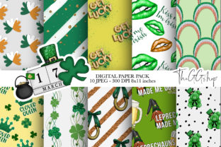 Print on Demand: St. Patrick's Day Digital Paper Pack Graphic Illustrations By TheGGShop