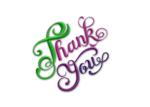Thank You Friends Quotes Embroidery Design By SweetDesign