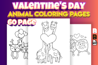 Print on Demand: Valentine's Day Animal Coloring Book Graphic Coloring Pages & Books Kids By Cute Coloring