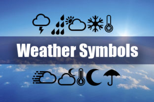 Print on Demand: Weather Symbols Dingbats Font By vladimirnikolic