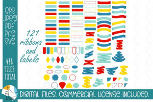 121 Ribbons SVG Bundle. Ribbons, Labels Graphic Crafts By OK-Design 1
