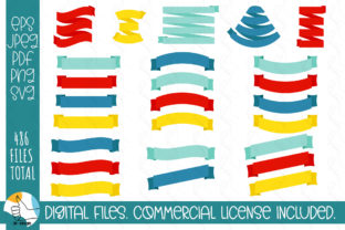 121 Ribbons SVG Bundle. Ribbons, Labels Graphic Crafts By OK-Design 10