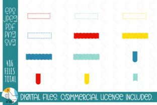 121 Ribbons SVG Bundle. Ribbons, Labels Graphic Crafts By OK-Design 5