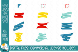 121 Ribbons SVG Bundle. Ribbons, Labels Graphic Crafts By OK-Design 9