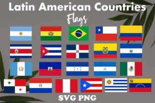 21 Latin American Countries Flag Clipart Graphic Illustrations By JamSafariArt