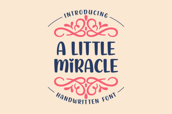 Print on Demand: A Little Miracle Script & Handwritten Font By Situjuh