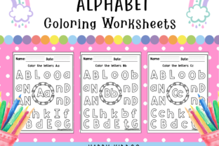 Alphabet Coloring Worksheets Graphic PreK By Happy Kiddos