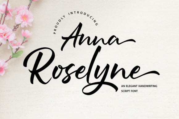 Print on Demand: Anna Rosselyn Script & Handwritten Font By Vunira