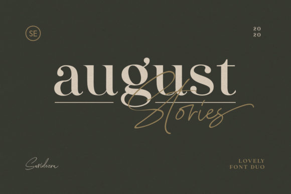 Print on Demand: August Stories Serif Font By saridezra