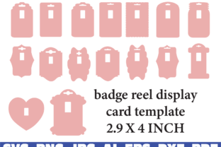 Badge Reel Display Card Template Graphic Illustrations By dodo2000mn1993