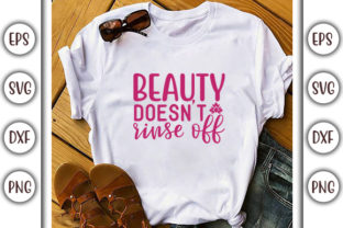 Print on Demand: Bathroom Design, Beauty Doesn't Rinse Graphic Print Templates By GraphicsBooth
