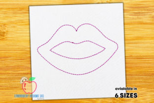 Beautiful Female Lips Quick Stitch Beauty Embroidery Design By embroiderydesigns101