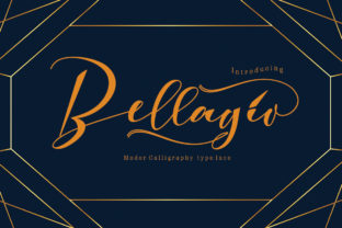 Print on Demand: Bellagio Script & Handwritten Font By JoeeCreative