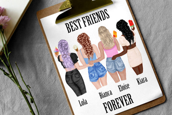 Best Friends Clipart Ice Cream Clipart Graphic Preview