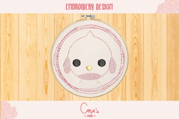 Bird Baby Animals Embroidery Design By carasembor