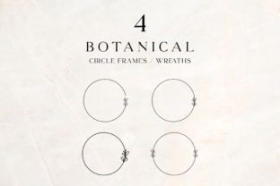 Print on Demand: Botanical Circle Frames Clip Art 3 Graphic Illustrations By Pretty Decadent