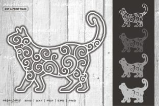 Print on Demand: Cat #12 Vector SVG 3D Layered Graphic 3D SVG By Ahsancomp Studio