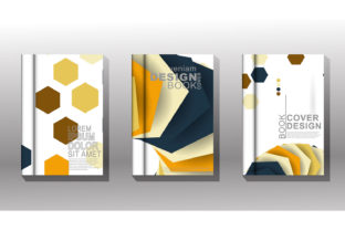 Cover Book with Geometric Shape Graphic Graphic Templates By Artnoy