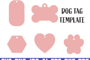 Print on Demand: Dog Tag Template Graphic Illustrations By Sofiamastery