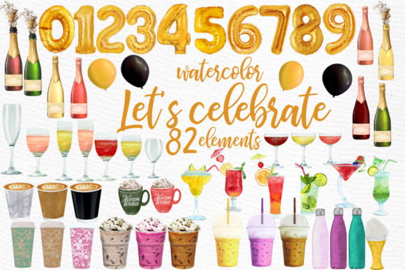Drinks Clipart Champagne Bottles Graphic