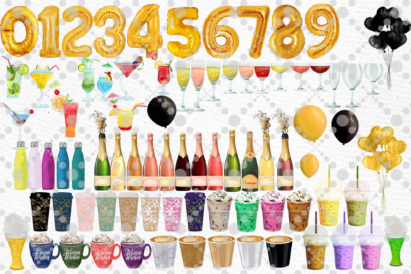 Drinks Clipart Champagne Bottles Graphic Download