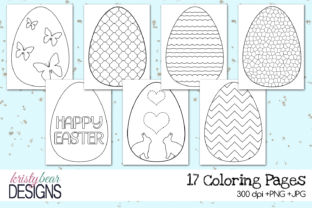 Print on Demand: Easter Coloring Pages Graphic Coloring Pages & Books Kids By kristybear DESIGNS