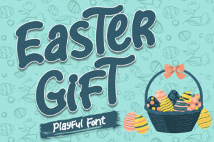 Print on Demand: Easter Gift Display Font By Sakha Design