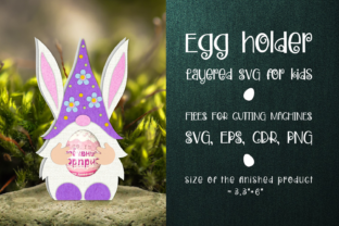 Print on Demand: Easter Gnome - Chocolate Egg Holder SVG Graphic 3D SVG By Olga Belova