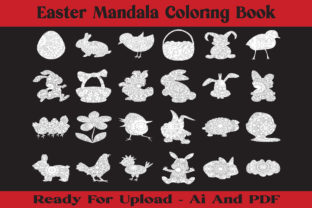 Print on Demand: Easter Mandala Coloring Book Graphic KDP Interiors By McLaughlin Mall
