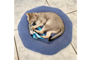 Easy Doughnut-Shaped Pet Bed Graphic Crochet Patterns By myoumaralie