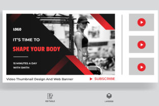 Fitness Thumbnail Design for Your Video Graphic Web Elements By sohagmiah_0