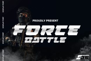 Print on Demand: Force Battle Display Font By artype07