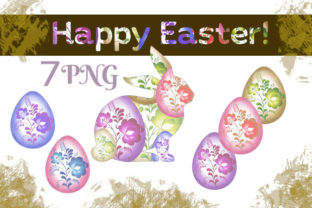 Print on Demand: Happy Easter Clipart Graphic Illustrations By Iva Art