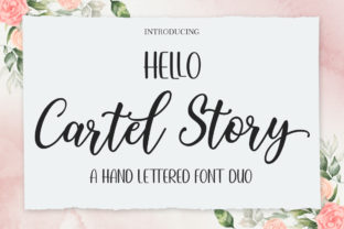 Print on Demand: Hello Cartel Story Script & Handwritten Font By Attract Studio
