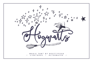 Print on Demand: Hogwarts Script & Handwritten Font By besttypeco