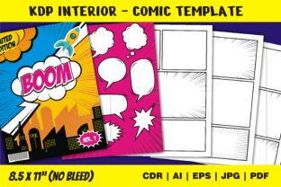 Print on Demand: KDP Interior Comic Creative Template Graphic KDP Interiors By edywiyonopp