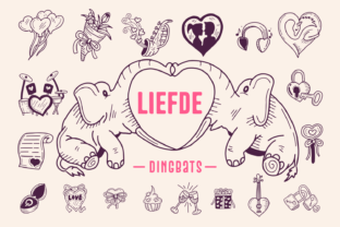 Print on Demand: Liefde Dingbats Font By Situjuh