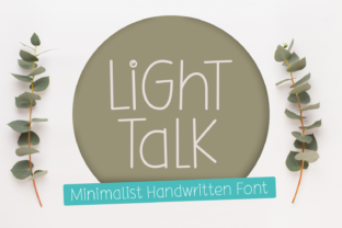 Print on Demand: Light Talk Script & Handwritten Font By Jasm (7NTypes)