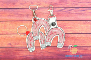 Magnet in the Hoop Keyfob Toys & Games Embroidery Design By embroiderydesigns101