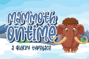 Print on Demand: Mammoth Ontime Display Font By Sketype Studio