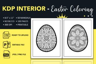 Print on Demand: Mandala Easter Coloring Pages Book - KDP Graphic KDP Interiors By KDP King