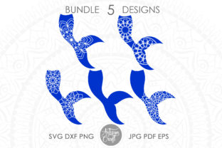 Print on Demand: Mermaid Tail Mandala SVG, Fish Tail Graphic 3D SVG By Artisan Craft SVG